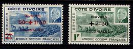 Ex Colonie Française * Cote D'Ivoire * Poste  175/176  Qualité Luxe N** - Unused Stamps