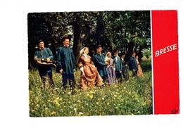 Cpm Folklore BRESSE Vers 1830 - Femme Homme Costume De Fête Vielle - Paysan Paysanne Région Romenay - Music