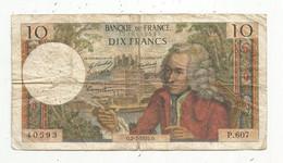 Billet , France , 2-7-1970 , DIX FRANCS , 10 Francs , 2 Scans , VOLTAIRE , Frais Fr 1.75 € - 10 F 1963-1973 ''Voltaire''