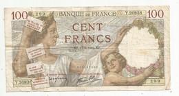 Billet , France , 100 , Cent Francs ,SULLY , 17-4-1941 , 2 Scans , Frais Fr 1.85 € - 100 F 1939-1942 ''Sully''