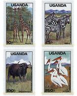 Ref. 31497 * MNH * - UGANDA. 1988. NATIONAL PARKS . PARQUES NACIONALES - Uganda (1962-...)