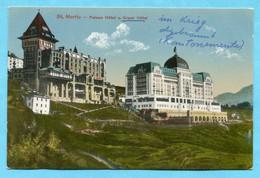 St. Moritz - Palace Hotel Und Grand-Hotel - Grand-Hotel Im Krieg Abgebrannt - GR Grisons