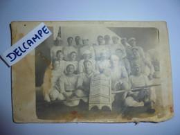 Cpa Carte Photo Corfou 1918 Marine Nationale Equipe  Jouteur Navire Waldeck Rousseau Joutes Herault Sete Meze Mutinerie - Guerra 1914-18