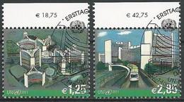 UNO WIEN 2011 Mi-Nr. 689/90 O Used - Aus Abo - Gebraucht