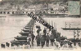 CPA 38 010 VIENNE - École De Ponts Par Les Régiments Du Génie - Parade - Animée Militaires - écrite Et Circulée - Vienne