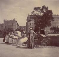 1898 Photo Nice Les Nounous Au Parc Alpes Maritimes - Places