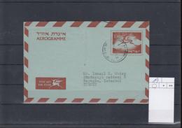 Israel Michel Cat.No.  Postal Stat H&G  Aerogramme 19 Used - Airmail