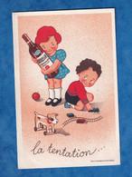 Publicité Ancienne Format CPA - Maison F. SENECLAUZE Saint Eugène Oran Algérie - Illustrateur Enfant Jouet Bouteille Vin - Pubblicitari