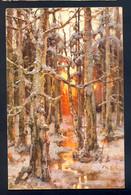 J. Klewer: Sunset In Winter - Sonnenuntergang Im Winter / Editeur: A. J. Ostrowski / Postcard Not Circulated - Schilderijen