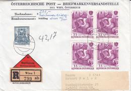 Autriche - Lettre Recom De 1966 - Oblit Wien - Industrie - Acier - - 1961-70 Storia Postale