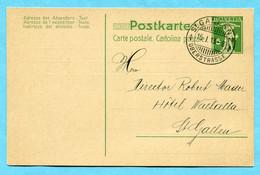 Postkarte St. Gallen 1913 Mit Zudruck Carl Haase - Stamped Stationery