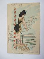 LES  PETITES  SPORTIVES   -  LA  NATATION       ...    TTB - Andere Zeichner