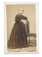 FEMME EN ROBE - CDV PHOTO NAPOLI - Oud (voor 1900)