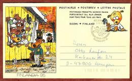 Faltbrief F 9 Kinder Von Hundeberg, FDC, Helsinki Nach Kempen 1994 (2854) - Entiers Postaux