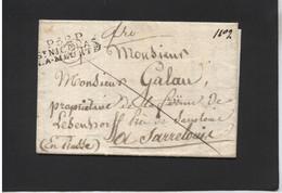 LETTRE De SAINT NICOLAS LA MEURTHE à SARRELOUIS (PRUSSE) - 1801-1848: Precursors XIX