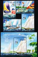 Fiji - 2004 - 25 Years Of Musket Cove - Port Vila Yacht Race - Joint Issue W Vanuatu - Mint Stamp Set + Souvenir Sheet - Fiji (1970-...)