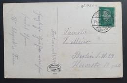 """Deutsches Reich 1929, Postkarte SCHWERTE """"Ruhrtal Mit Hohensyburg-Denkmal"""" - Covers & Documents"""