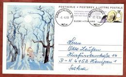 Faltbrief F 7 Norda Winter Im Mumintal, Haemeenlinna Nach Kempen 1993 (2855) - Entiers Postaux