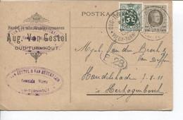 RF3047/ TP 255 Houyoux -283 S/CP Handel Kruidenierswaren A.Van Gestel C.Oud-Turnhout 23/1/1930 > Hertogenbosch - Cartas