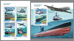 SAO TOME 2020 MNH Helicopter Hubschrauber Submarines M/S+S/S - OFFICIAL ISSUE - DHQ2103 - Hélicoptères