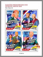 SAO TOME 2020 MNH Joe Biden 46. President Of USA M/S - IMPERFORATED - DHQ2103 - Autres