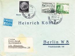 Allemagne - Empire - Lettre De 1937 - Oblit München - Exp Vers Berlin - Bateaux - Voiliers - Storia Postale