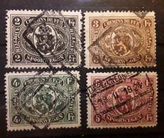 BELGIQUE COLIS POSTAUX CHEMIN DE FER 1922, 4 Timbres Yvert No 128 / 131, Obl TB - 1915-1921