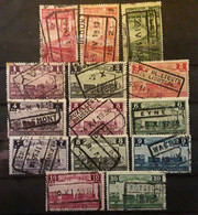 BELGIQUE COLIS POSTAUX CHEMIN DE FER 1935 , 14 Timbres Entre  Yvert No 178 - 197 , Obl TB - 1923-1941