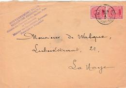 Briefvoorzijde (Devant) 10ct X 2 Baarle-Hertog 1917 Naar Den Haag - Minister Van Spoorwegen,Zeewezen.... - Belgisch Leger