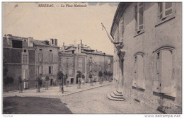J24- 24) RIBERAC - PLACE NATIONALE -  (2 SCANS) - Riberac