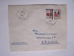 ALGERIE 8-8-1962 BONE Vers DANEMARK, Surcharges Partielles - Algeria (1962-...)