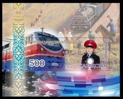 Kazakhstan  2020. Transport Workers Day. Trains, Locomotives Railway. MNH - Kazakhstan
