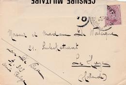 Briefvoorzijde (Devant) 20 Ct Belg.Legerpost 1918 Naar Den Haag - C.F. En Censuurstrook (deels). - Belgisch Leger