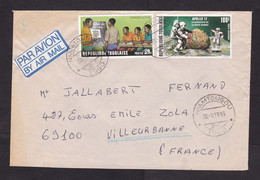 Togo: Airmail Cover To France, 1993, 2 Stamps, Apollo, Space, Moon, School, Education, Rare Real Use (minor Damage) - Togo (1960-...)