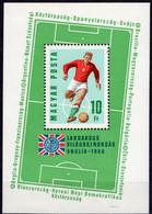 Fussball-WM London 1966 Ungarn Block 53 ** 5€ Flagge Football S/s Championat Sheet Soccer M/s Sport Bloc Bf Hungary - 1966 – Engeland