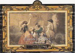 Etiquette Champagne Charles Ellner à Epernay / BRUT RESERVE - Champagne
