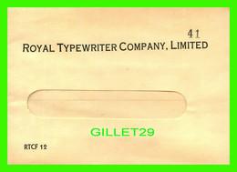 ENVELOPPE, LETTER - ROYAL TYPEWRITER COMPANY LIMITED  No 41 - - Otros