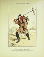 GARDE NATIONALE SEDENTAIRE-LITHO Signée DRANER-PARIS ASSIEGE-1870 - Lithographies