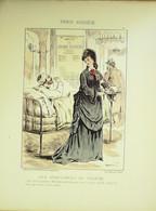AMBULANCES De THEATRE-LITHO Signée DRANER-PARIS ASSIEGE-1870 - Lithographies