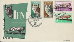 3579  FDC Ifni Sidi  1957 Dia Del Sello  Chacal  ( Canis) - Ifni