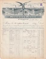 FACTURE DECAUDUN & BEGUIN RIDEAUX GUIPURE à SAINT QUENTIN AISNE 1910 - 1900 – 1949