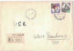 IK157    Storia Postale 1983 Racc.da Roteglia Per Scandiano Coppia Castelli £.700 E £.1000 - 1981-90: Poststempel