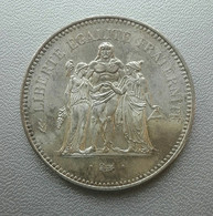 Francia, 50 Franchi 1975 Ercole Argento - France 50 Francs Argent Silver Paris Hercule - M. 50 Franchi