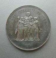 Francia, 50 Franchi 1977 Ercole Argento - France 50 Francs Argent Silver Paris Hercule [1] - M. 50 Franchi