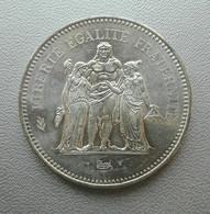 Francia, 50 Franchi 1977 Ercole Argento - France 50 Francs Argent Silver Paris Hercule [3] - M. 50 Franchi