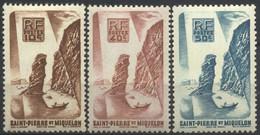 St.Pierre Et Miquelon, 1947, Roc De Langlade, 10, 40, 50 C., Neufs MH* - Nuovi
