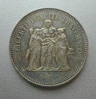 Francia, 50 Franchi 1977 Ercole Argento - France 50 Francs Argent Silver Paris Hercule [5] - M. 50 Franchi