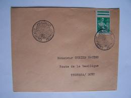 ALGERIE Timbre Sur Enveloppe Avec Cachets Du Poste Du Front De Libération Ou Du Poste De L'Armée Libre - Algeria (1962-...)