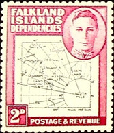 Falkland Islands, Dependencies 1946 2p SG G3 ** MNH KGVI (002824) - Oblitérés