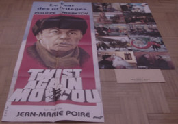AFFICHE CINEMA FILM TWIST AGAIN A MOSCOU NOIRET + 10 PHOTOS EXPLOITATION CLAVIER LAMOTTE BLIER 1986 - Posters